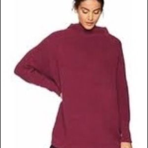 Cranberry Free People Slouchy Tunic